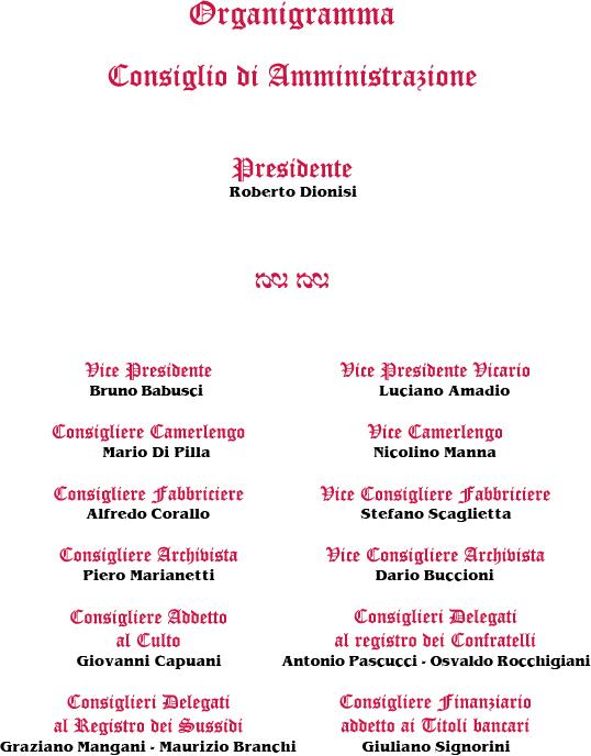 Statuto Confraternita 2016