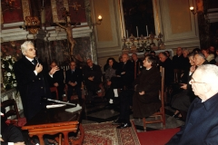Il Presidente della Repubblica Sergio Mattarella nella chiesa di Santa Maria della Quercia