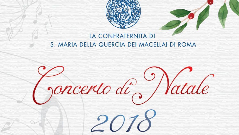 Concerto di Natale della Confraternita sabato 8 dicembre 2018